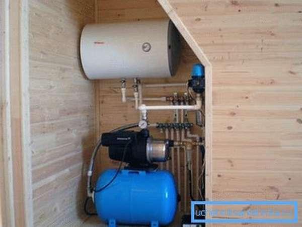 Оборудование для подачи воды в дом.