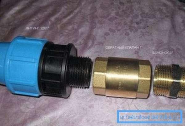 Обратный клапан для скважинного насоса с оборудованием