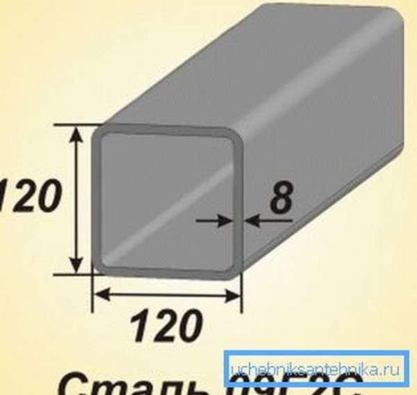 Обычно для изделий подобного типа используется специальная сталь, которая позволяет производить сварные работы и не имеет хрупкости