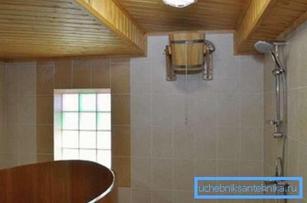Обычно санузел располагают в отдельном помещении.