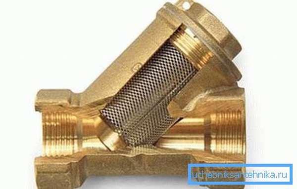 Обычный косой фильтр защитить клапан сливного бачка от засорения