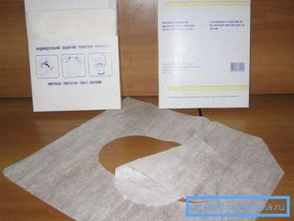Одноразовые бумажные накладки на унитаз