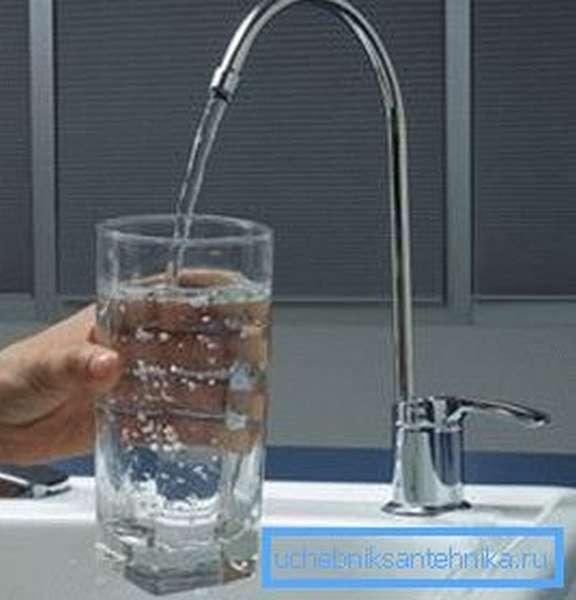 Однорычажный кран под фильтр для воды
