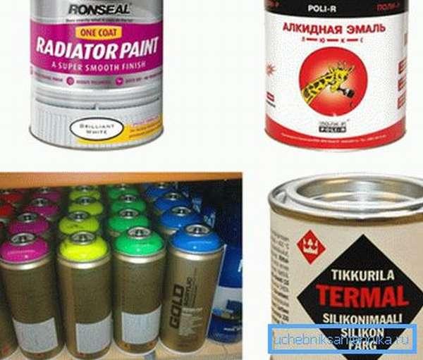 Окраска радиаторов отопления и трубопроводов проводится специальными термостойкими красками