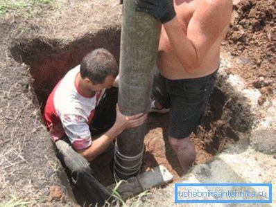 Опускание трубы в скважину