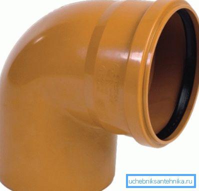 Оранжевая фасонина для канализации ПВХ