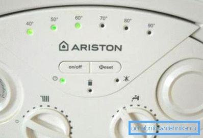 Органы управления на котлах Ariston