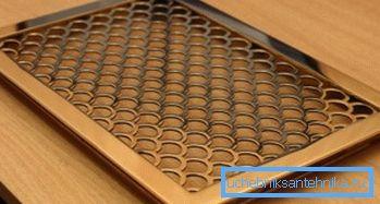 Оригинальные декоративные вентиляционные решетки из металла