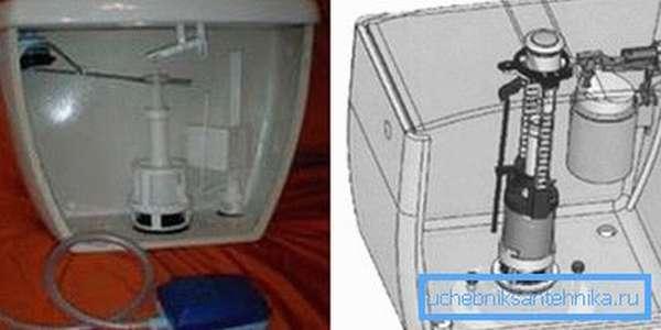 Особенностью данного варианта является то, что шланг подводится сбоку в верхней части емкости
