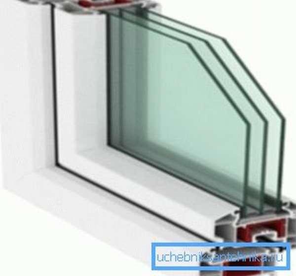 От количества стекол в окне зависит объем тепла, уходящего сквозь окна