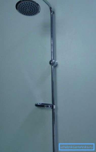 Отдельная душевая стойка с тропическим душем без смесителя