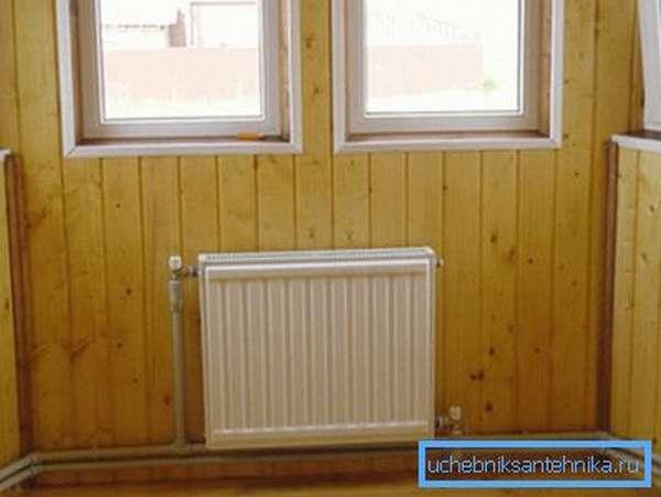 Открытая прокладка отопления в деревянном доме