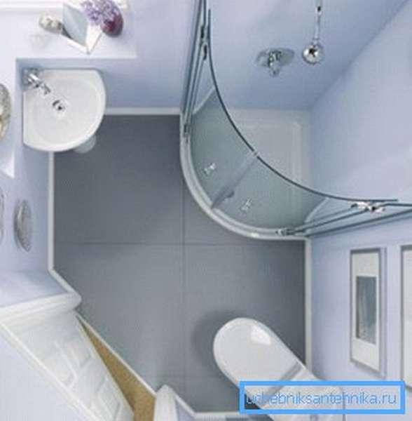 Отличное решение для маленьких ванных