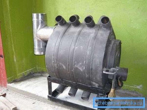 Отопление для гаража своими руками печью Булерьян