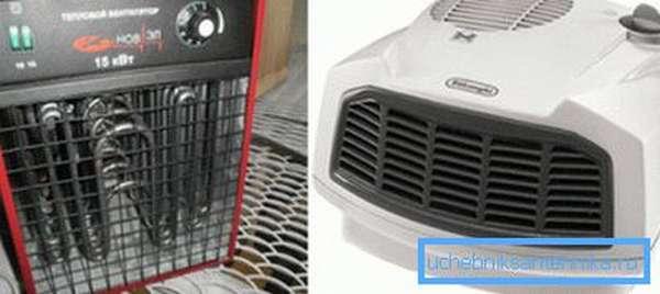 Отопление гаража электричеством с помощью тепловентиляторов