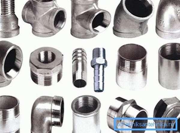 Оцинкованные резьбовые фитинги для стыковки труб