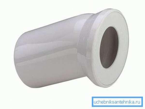 Отвод для подсоединения унитаза к канализации