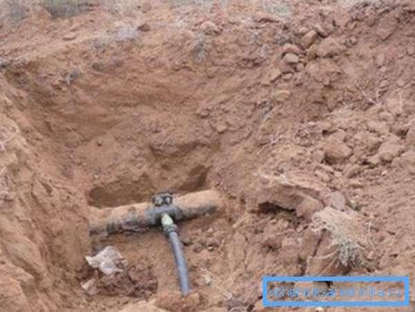 Отвод водопровода