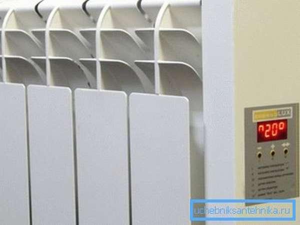 Панель управления электрического настенного обогревателя