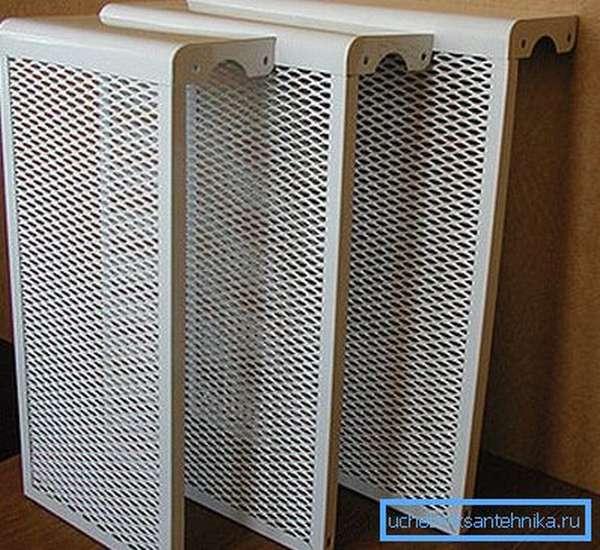 Панели, закрывающие не все стороны радиатора