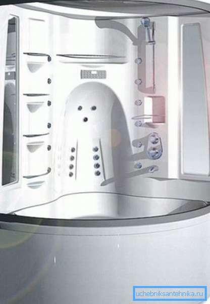 Парогенератор позволяет добиться в отсеке оптимальной температуры и влажности для создания импровизированной бани