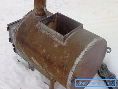 Печь каменка из трубы для бани
