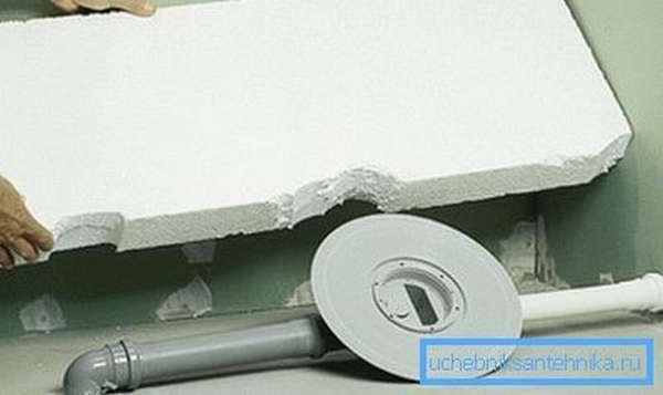 Пенопласт можно использовать в качестве теплоизолятора
