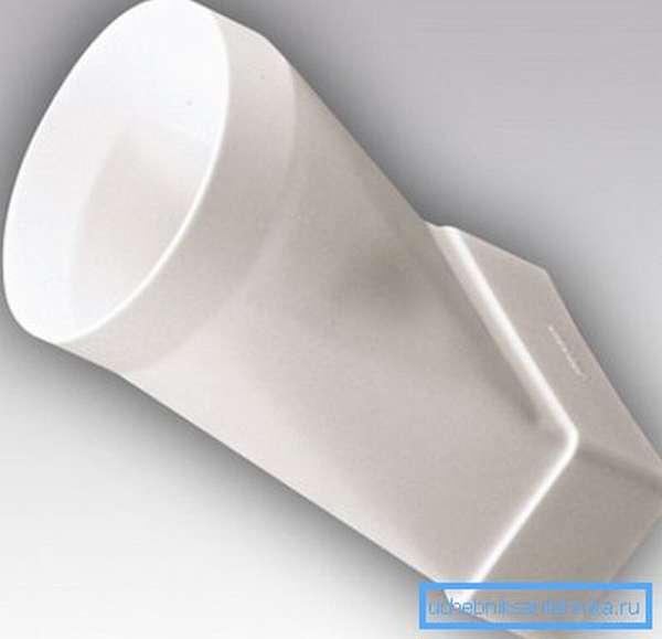 Переходник с круглых на плоские воздуховоды для вентиляции