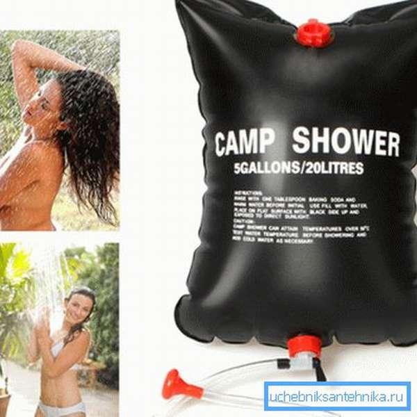 Переносной душ-сумка