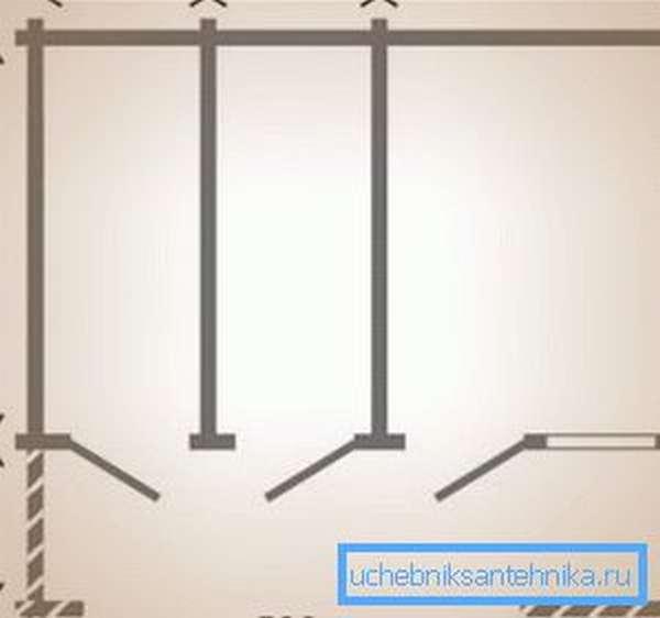 Планировка хозблока с раздельными входами.