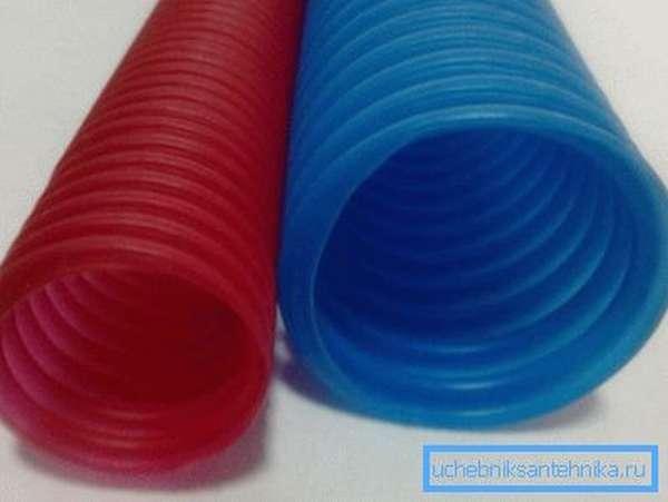 Пластиковая гофротруба для отопления