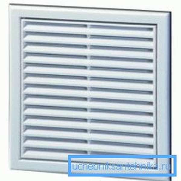 Пластиковая однорядная вентиляционная решетка 150х150 мм