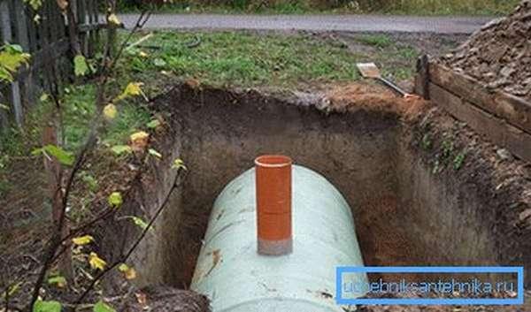 Пластиковая выгребная яма