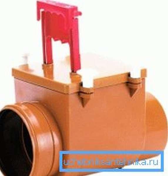 Пластиковая задвижка на канализационную трубу