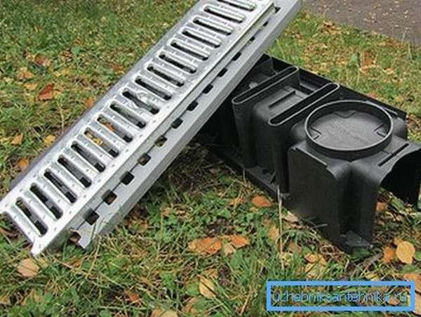 Пластиковой желоб для поверхностной дренажной системы