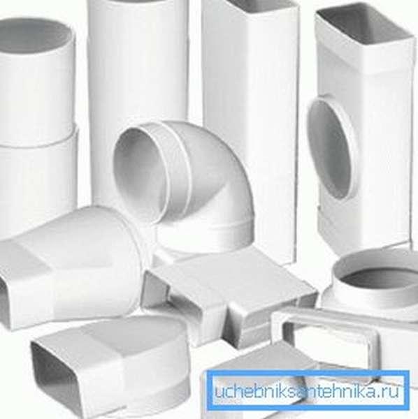 Пластиковые вентиляционные элементы значительно упрощают процесс монтажа своими руками