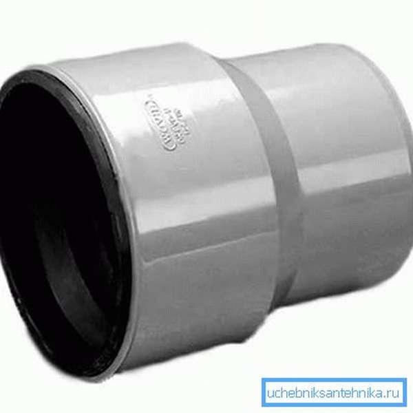 Пластиковый канализационный тапер (переходник с чугуна на пластик)