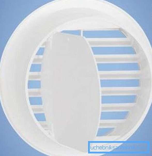 Пластмассовая вентиляционная решетка с клапаном