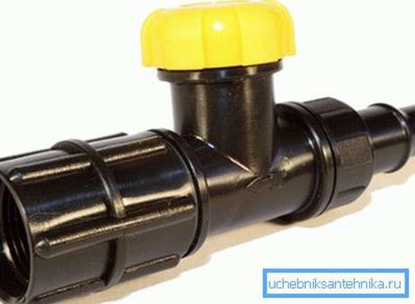 Пластмассовый водопроводный кран КВ 20м