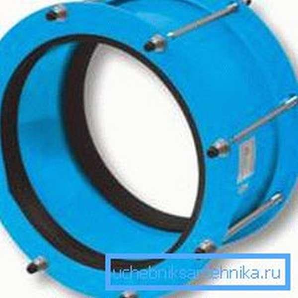 Подобные муфты также относят к фланцевым соединениям и активно используют при создании современных систем водоснабжения и канализации
