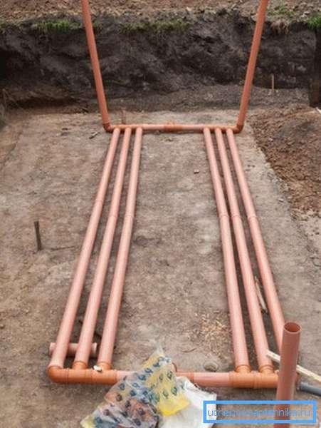 Подземный грунтовый теплообменник для системы вентиляции