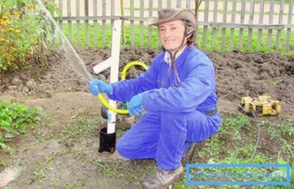 Полив огорода из скважины