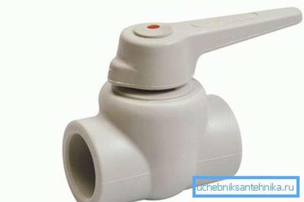 Полнопроходные пластиковые краны для воды
