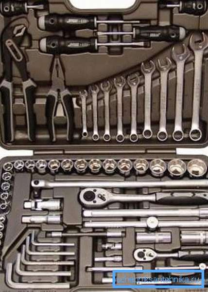 Полный комплект инструментов профессионального сантехника
