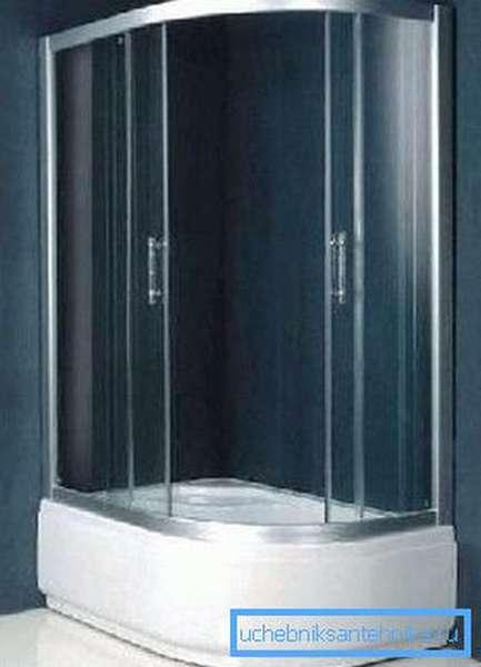 Полукруглый душевой уголок с глубоким поддоном 120х80 – вместительное и практичное решение