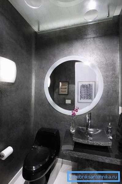 Полумрак делает посещение туалета более приятным