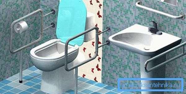 Поручень для унитаза для инвалидов увеличивает комфорт использования туалета