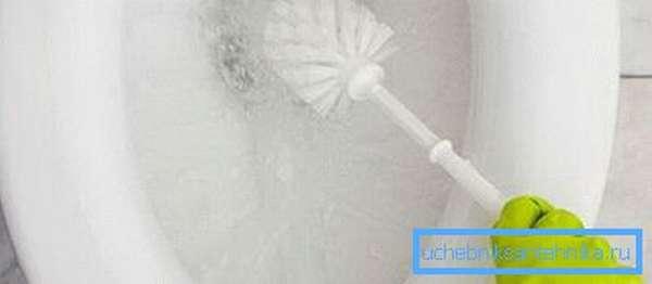 После обработки желательно дополнительно почистить поверхность с помощью ершика