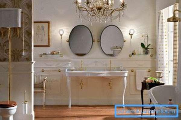 Позолота придаст роскошности вашему жилью и подчеркнёт состоятельность хозяев
