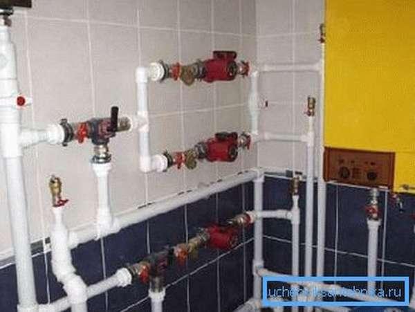 ПП трубопровод использован в системе отопления